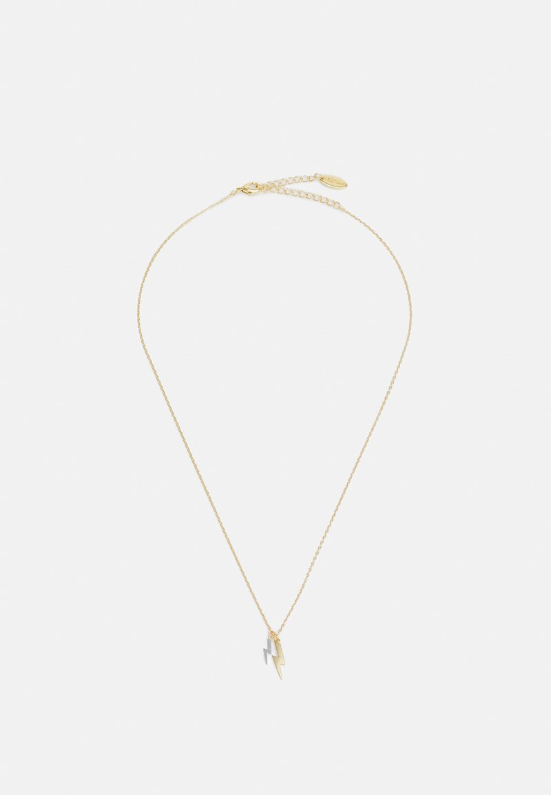 Orelia - DOUBLE LIGHTNING DITSY NECKLACE - Necklace - pale gold-coloured