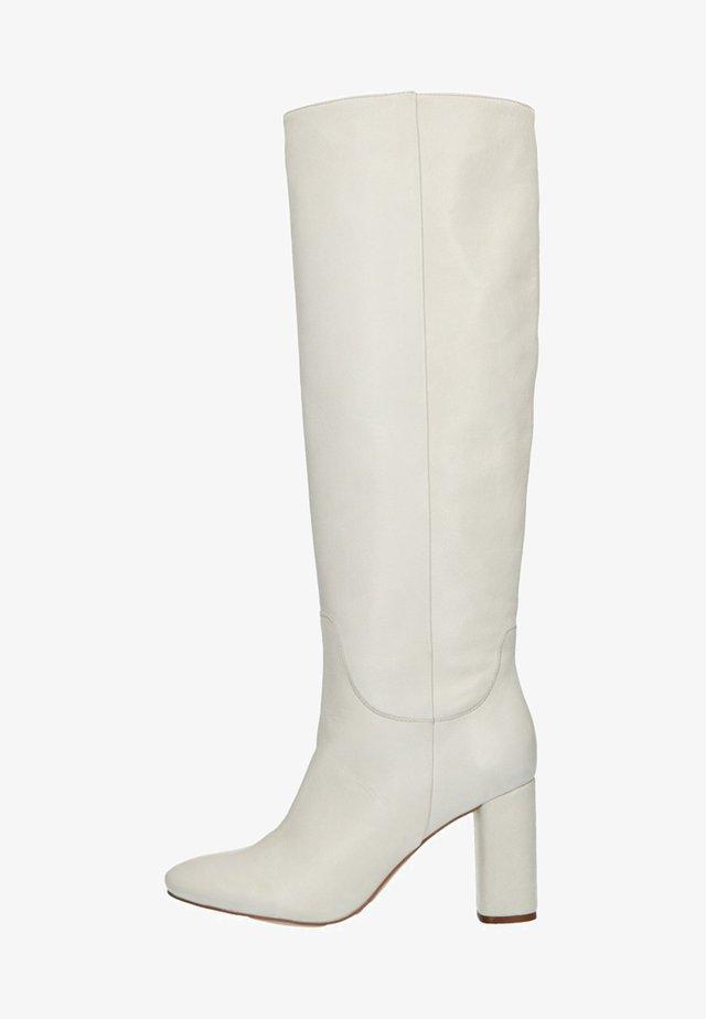 Overknee laarzen - white
