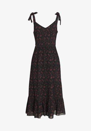Korte jurk - black/red