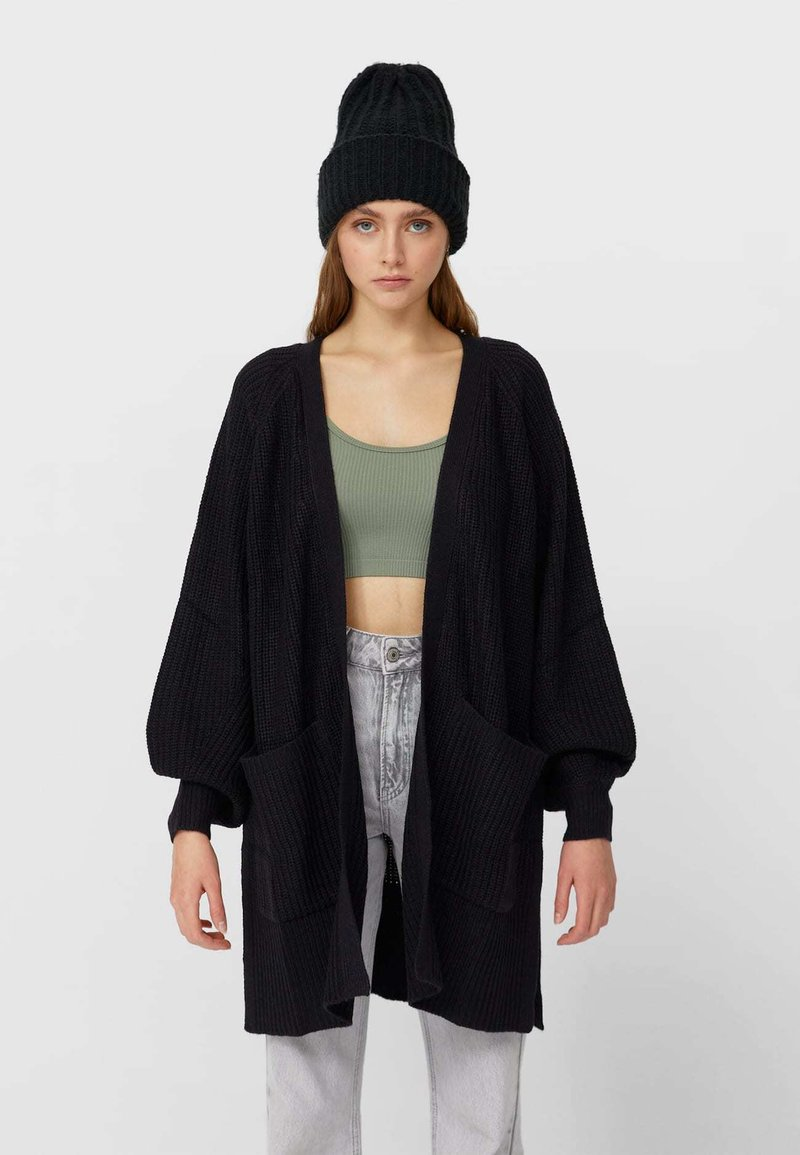 Stradivarius - Cardigan - black