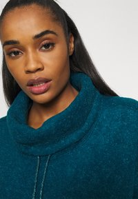 Nike Performance - COZY COWL - Fleece jumper - valerian blue heather/metallic silver - 4