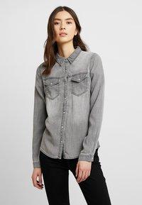 Vila - Button-down blouse - grey - 0