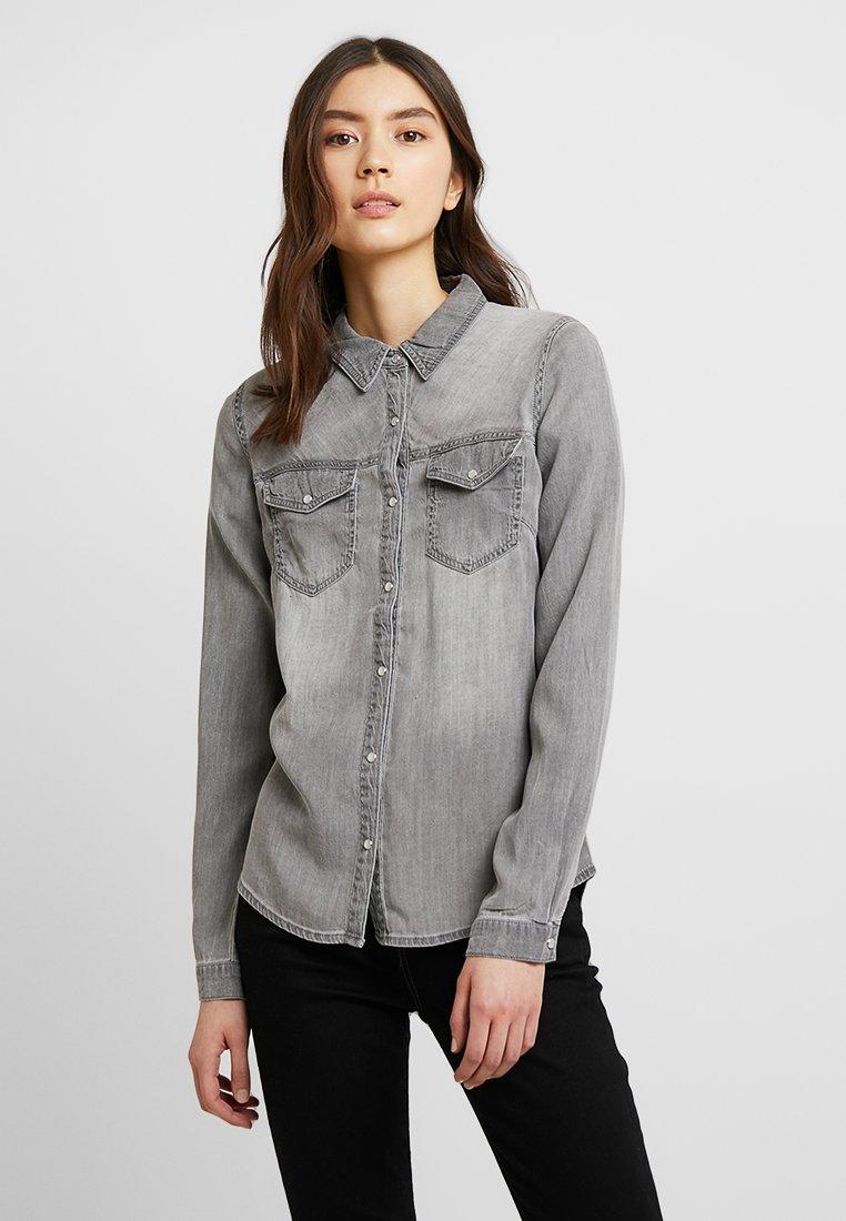 Vila - Button-down blouse - grey