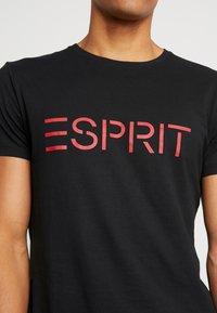 Esprit - NEW ICON - T-shirt z nadrukiem - black - 5