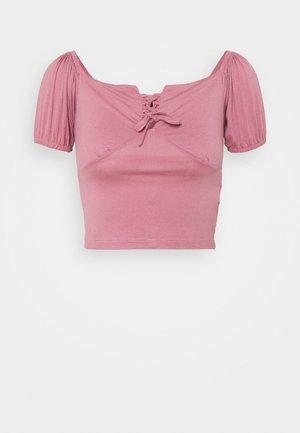 T-shirts med print - rose