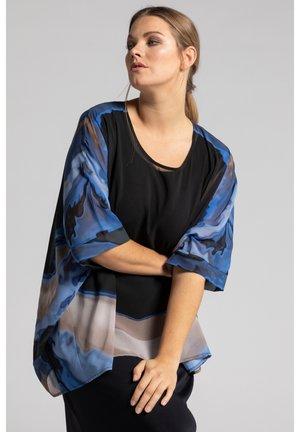 WOMENSWEAR PLUS SIZE BATIK PRINT CHIFFON OVERLAY SLI - Day dress - midnight blue