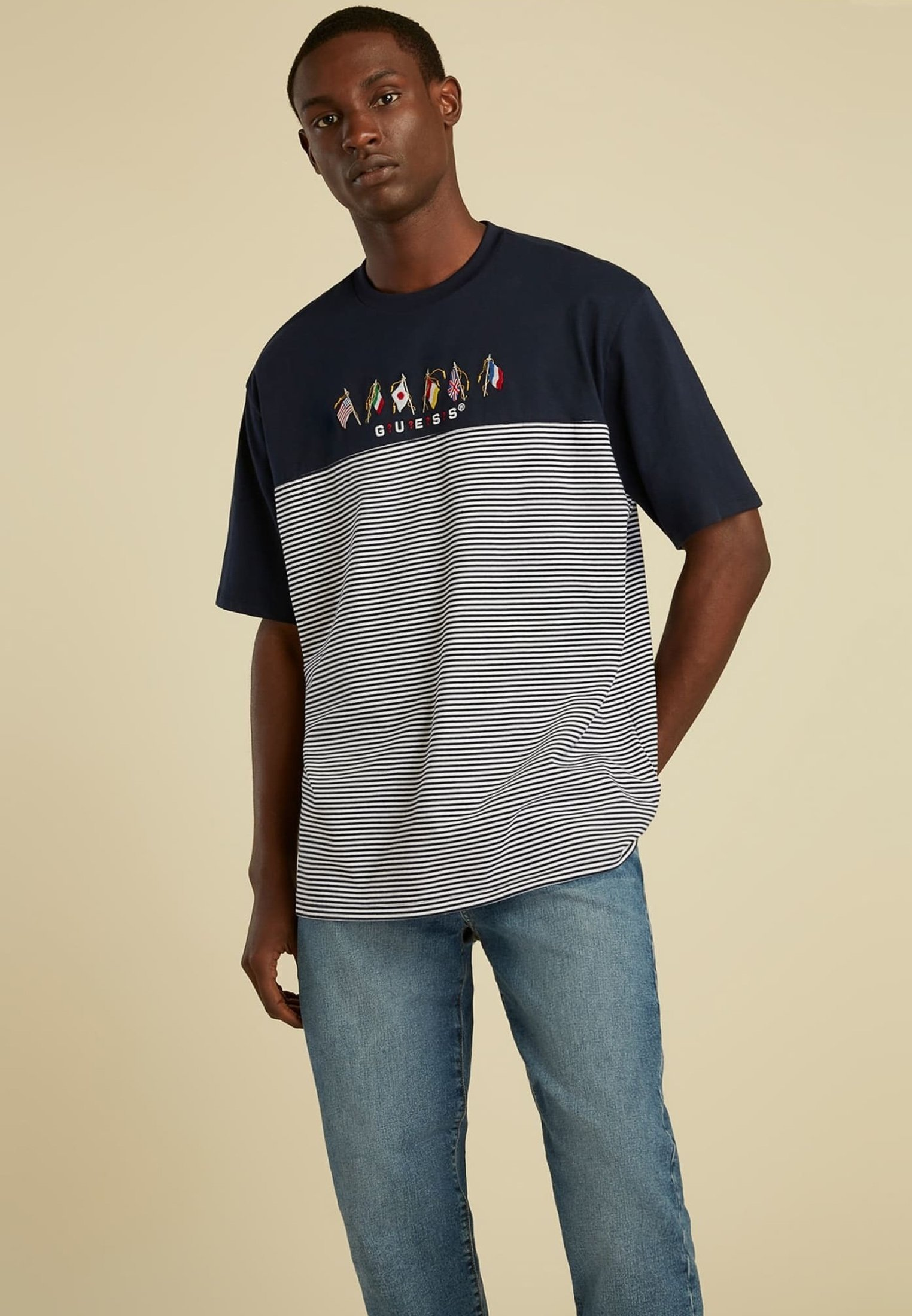Homme FLAGGENLOGO - T-shirt imprimé