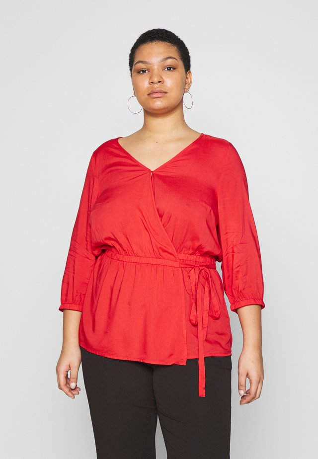 WRAP BLOUSE - Camicetta - virtual red