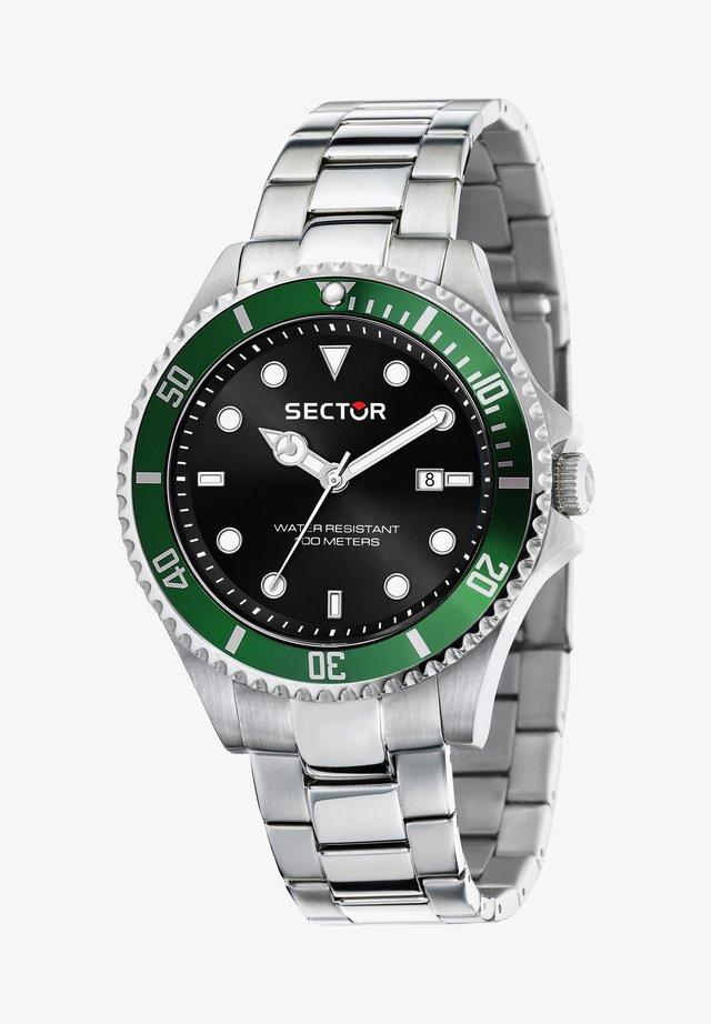 Horloge - schwarz silber