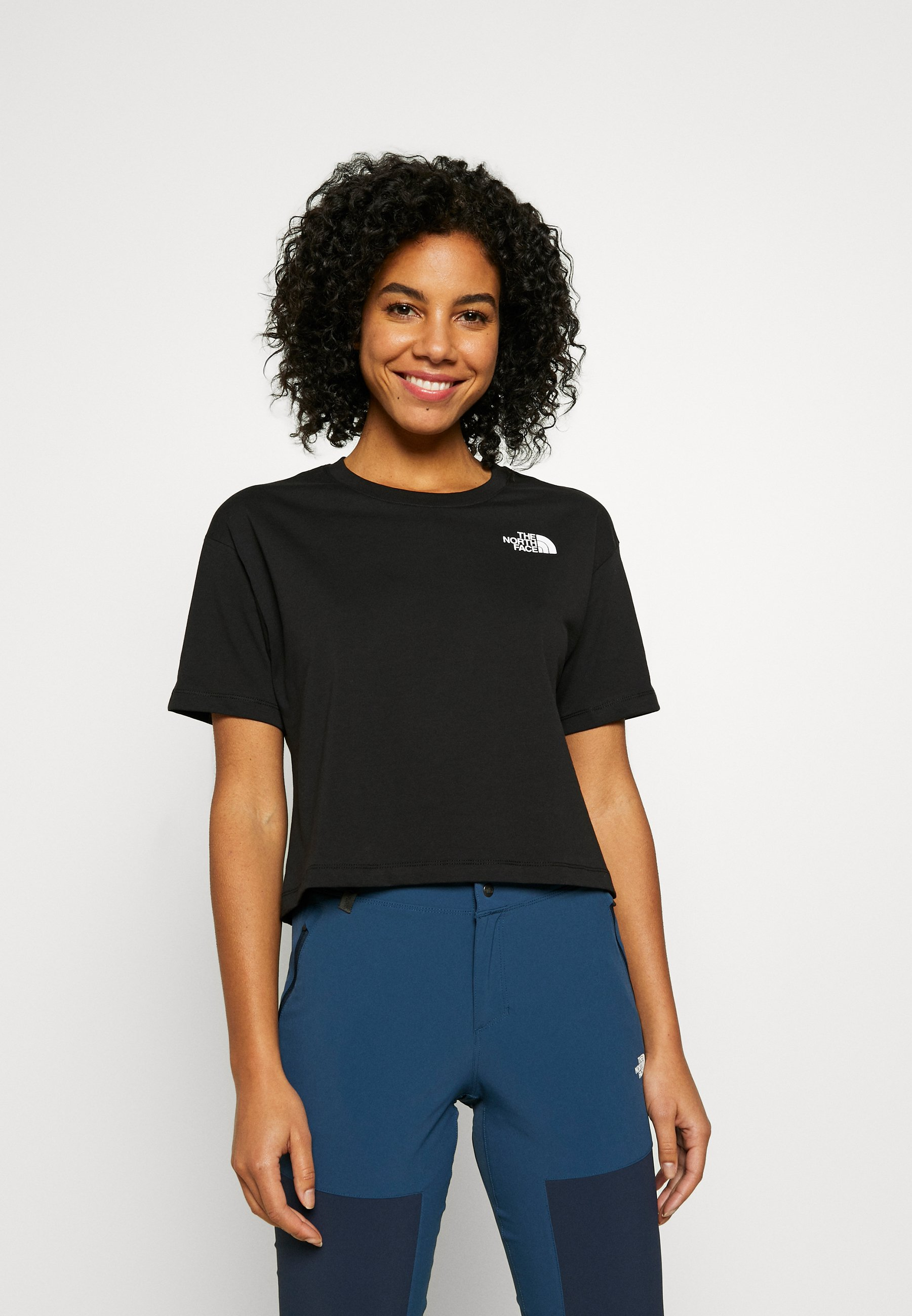 Women CROPPED SIMPLE DOME TEE  - Basic T-shirt