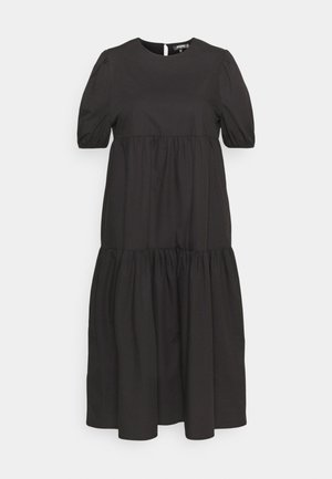 MIDAXI SMOCK DRESS - Maxi dress - black
