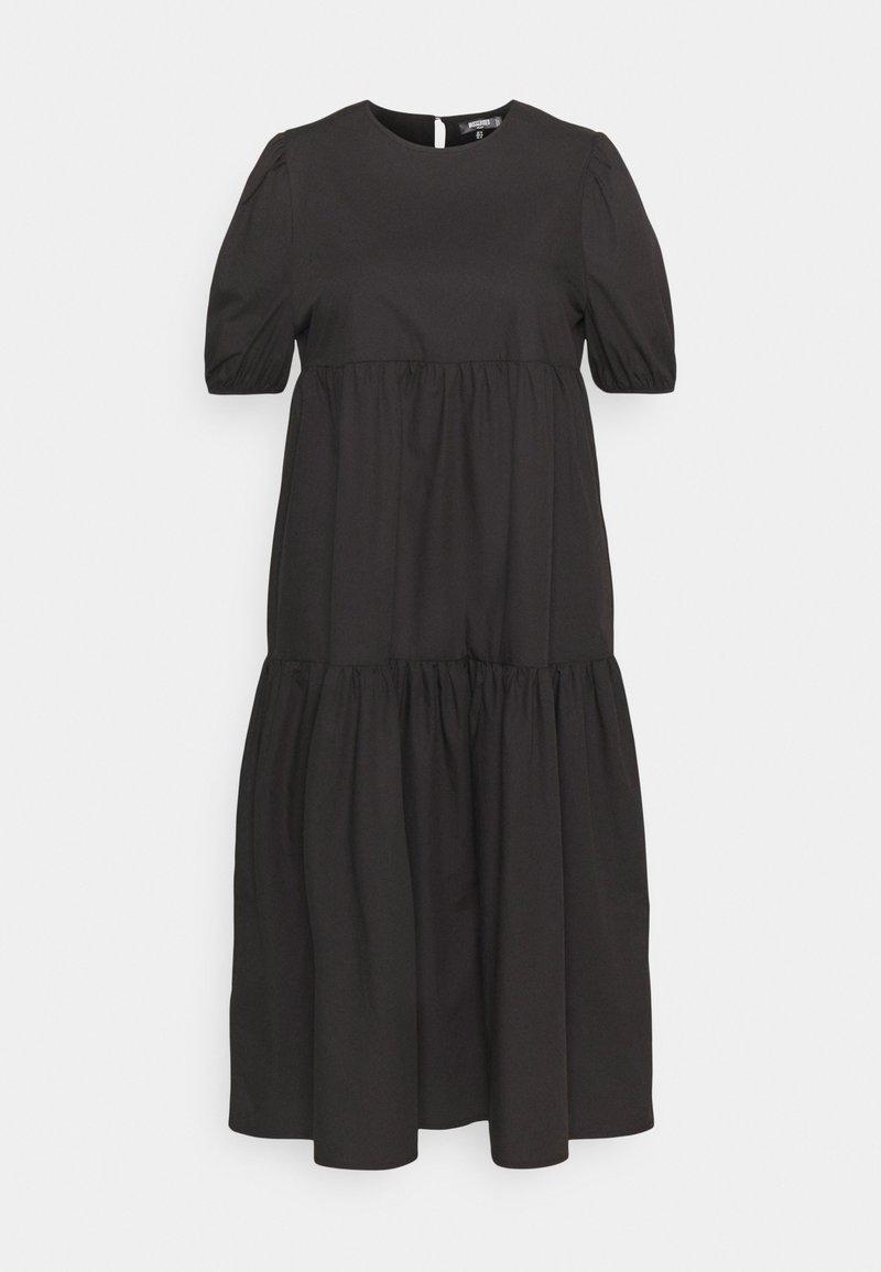 Missguided Plus - MIDAXI SMOCK DRESS - Maxi dress - black
