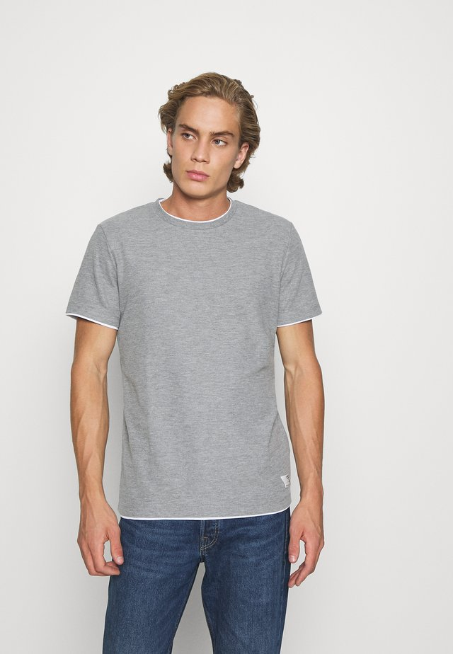 JPRBLATAYLOR TEE CREW NECK - Basic T-shirt - light grey melange