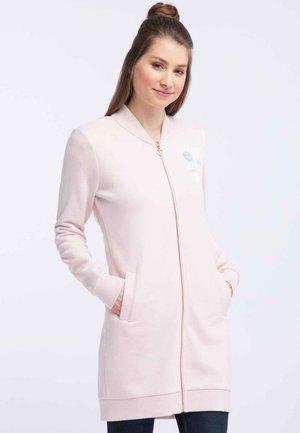 Zip-up hoodie - pink melange