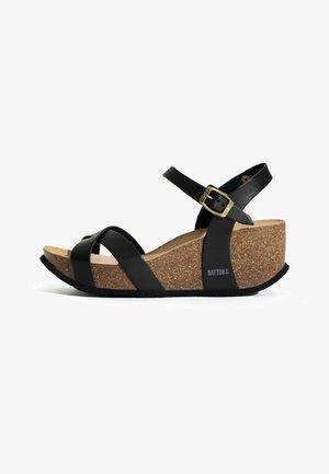 VENUS - Platform sandals - black