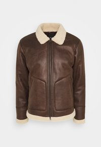 Only & Sons - ONSBEN AVIATOR - Faux leather jacket - chicory coffee - 4