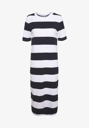 COLORBLOCK DRES - Žerzejové šaty - navy