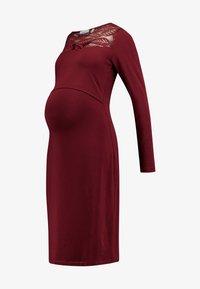 DRESS  - Jersey dress - cabernet