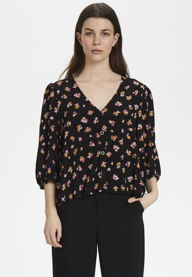 GITLAGZ OZ BLOUSE HS20 - Pusero - black pink flower