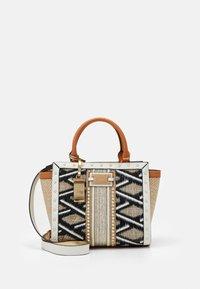 River Island - WEAVE STUD WING TOTE - Handbag - beige - 0