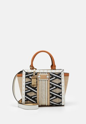 WEAVE STUD WING TOTE - Borsa a mano - beige
