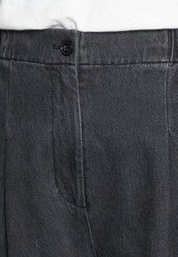 Samsøe Samsøe - GIANA TROUSERS - Relaxed fit jeans - black snow - 4