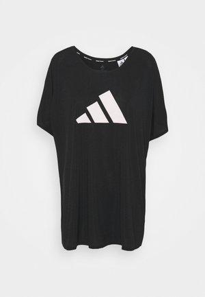 3 BAR TEE - Print T-shirt - black/white