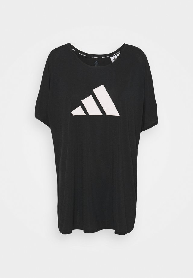 3 BAR TEE - T-shirt print - black/white