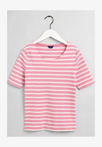 GANT DAMEN SHIRT KURZARM - T-shirt med print - sea pink