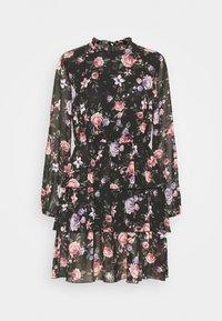 ONLY - ONLVIVIAN FLOWER FRILL DRESS - Denní šaty - black - 5