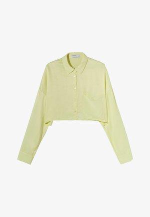 MIT TASCHE - Overhemdblouse - light yellow