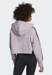 adidas Originals - CROPPED HOODIE - Luvtröja - purple