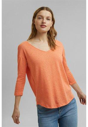 Long sleeved top - coral orange