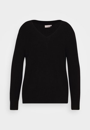 CARESLY V-NECK - Strikpullover /Striktrøjer - black