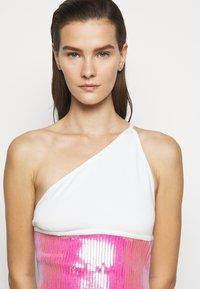 David Koma - Shift dress - white/pink - 3