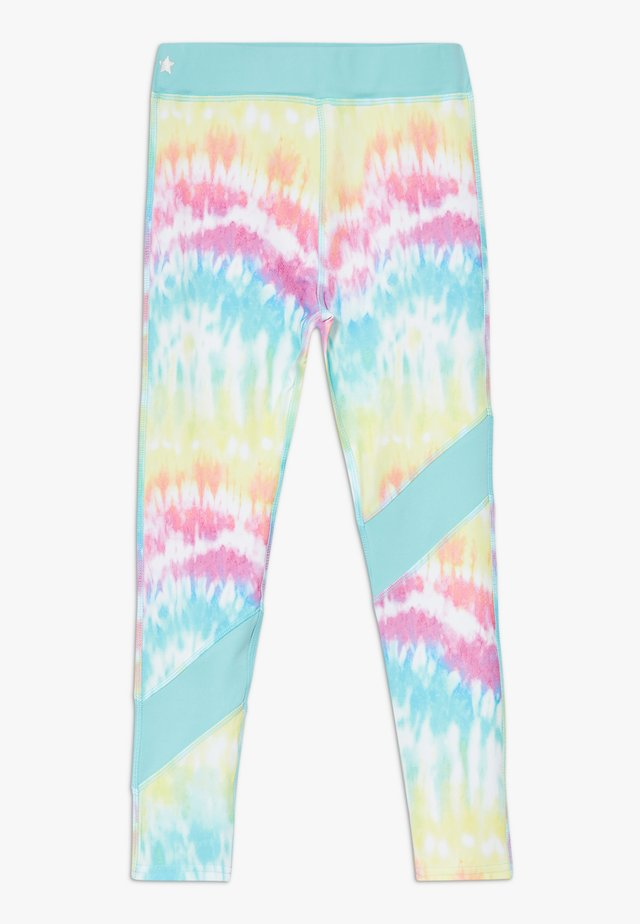 GIRLS COLOR BLOCK  - Leggings - rainbow/light blue