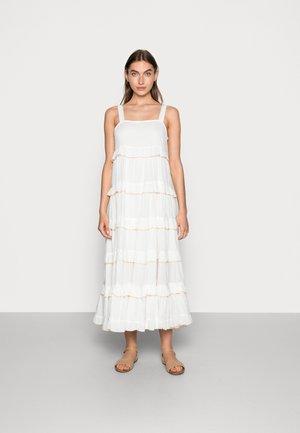 SLFDUFFY FRILLED MIDI STRAP DRESS - Day dress - snow white