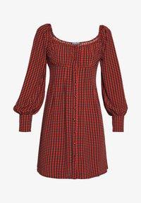 WULIE - Shirt dress - orange and black