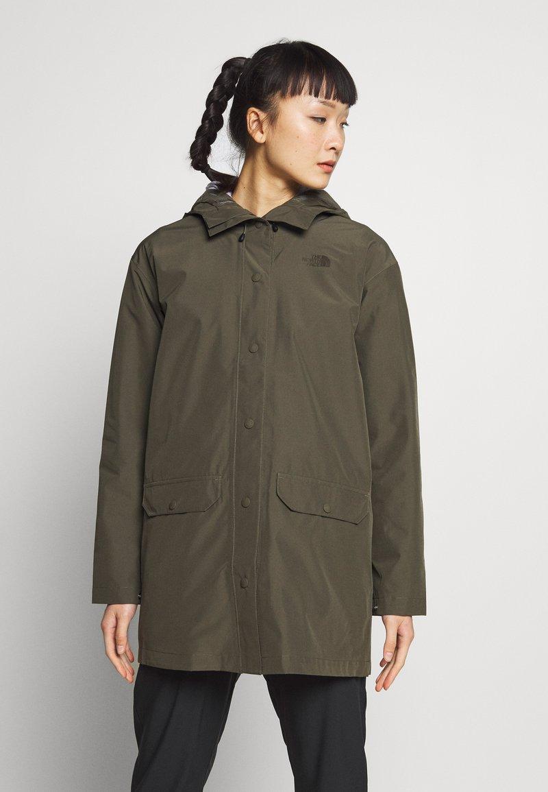 The North Face - WOMENS WOODMONT RAIN JACKET - Hardshell jacket - new taupe green