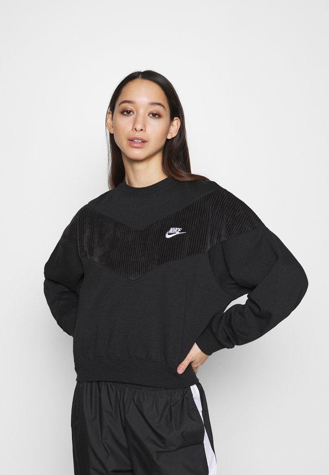 HRTG VELOUR - Sweatshirt - black/white