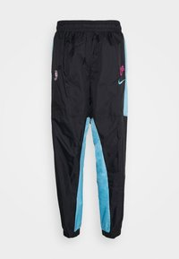 Nike Performance - NBA MIAMI HEAT CITY EDITION TRACKSUIT - Club wear - black/blue gale/laser fuchsia - 3