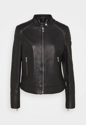 NEW MOLLISON JACKET - Leather jacket - black
