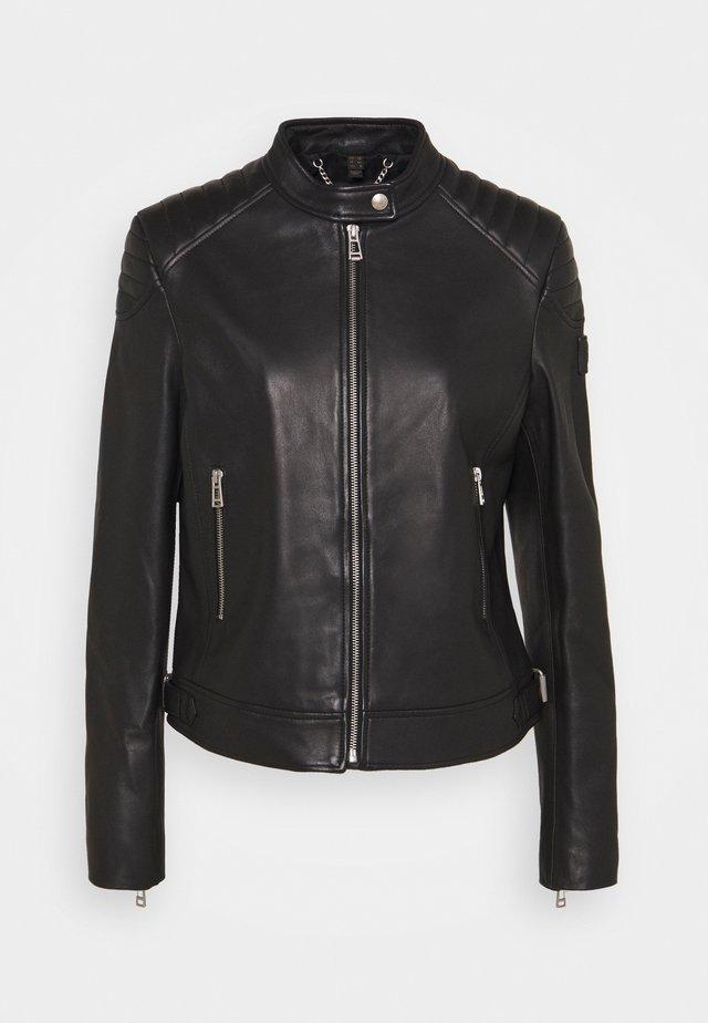 NEW MOLLISON JACKET - Leren jas - black