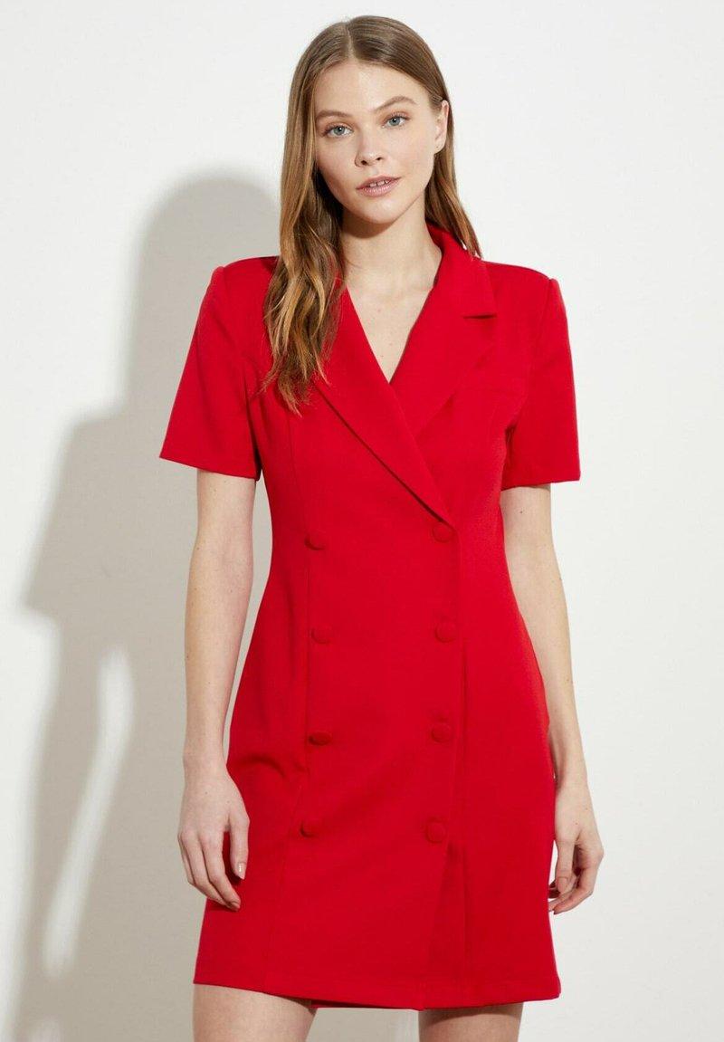 Trendyol - PARENT - Shirt dress - red