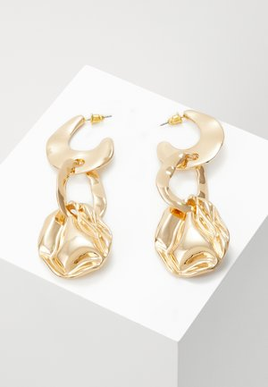 HAMMERED LINK DROPS - Earrings - gold-coloured