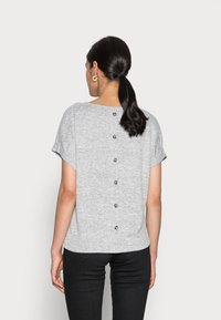 Opus - SABLET - Basic T-shirt - easy grey - 2