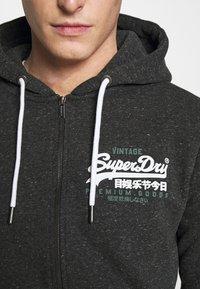 Superdry - DUO ZIPHOOD - Mikina na zip - black snow heather - 5