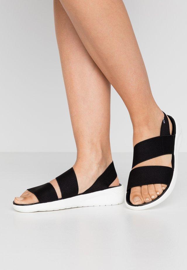 LITERIDE STRETCH  - Sandaalit nilkkaremmillä - black