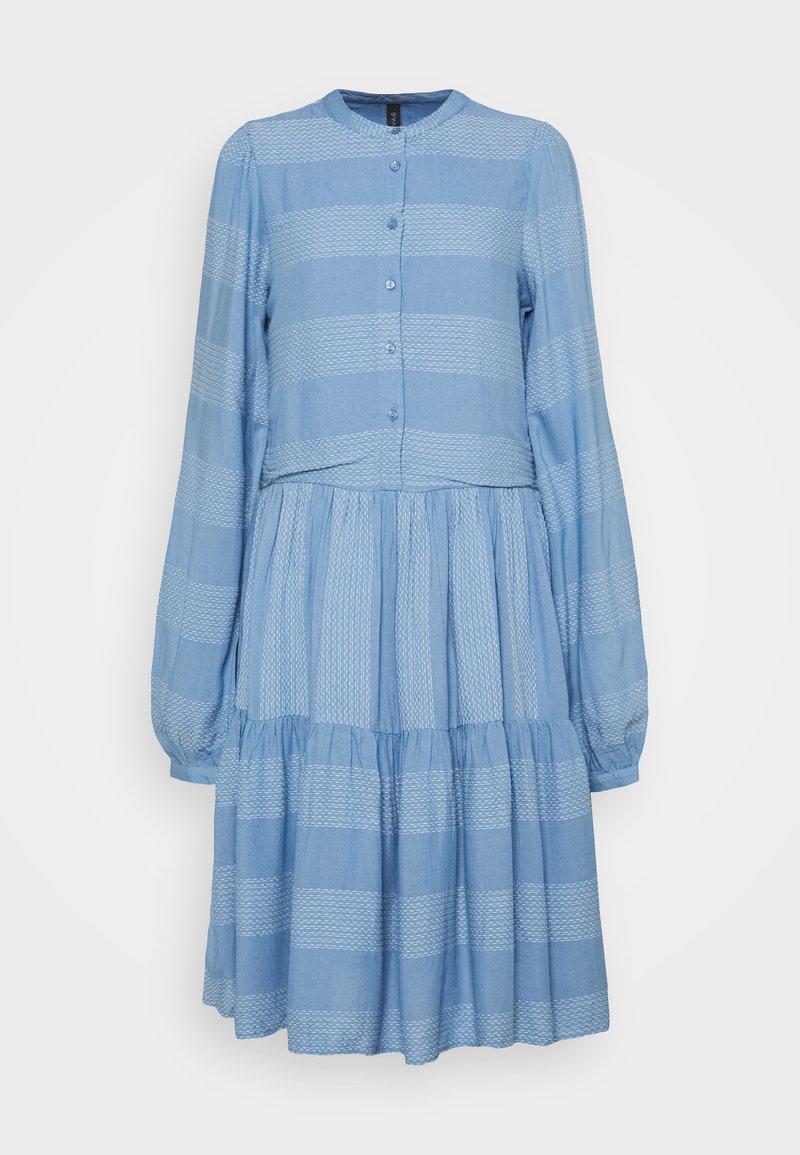 YAS Tall - YASLAMALI SHIRT DRESS - Day dress - silver lake blue