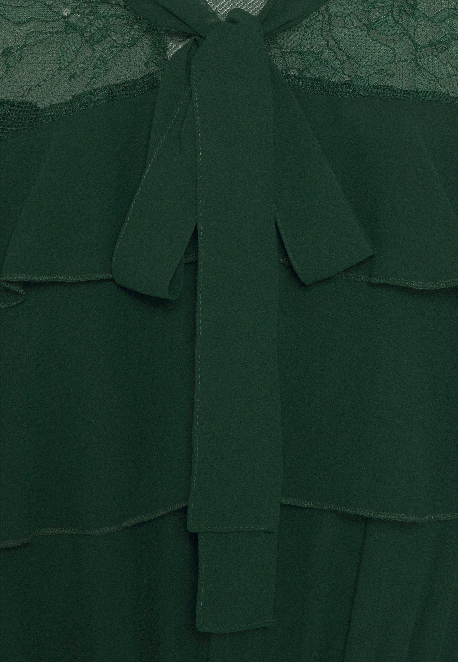 Missguided ELASTICATED WAIST MIDI DRESS Freizeitkleid green/grün